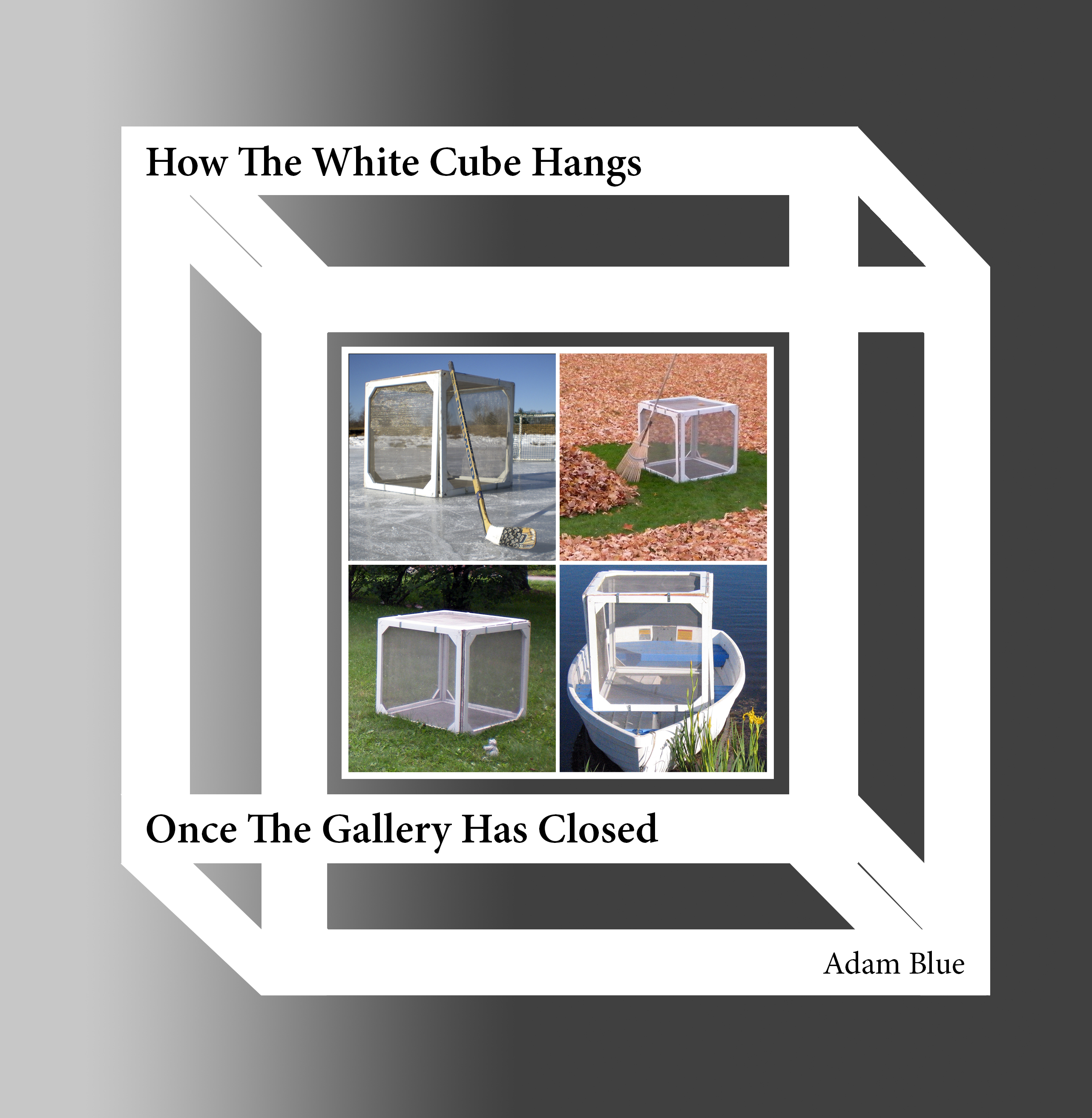 Adam Blue White Cube Book Cover Humor Art Modernism
