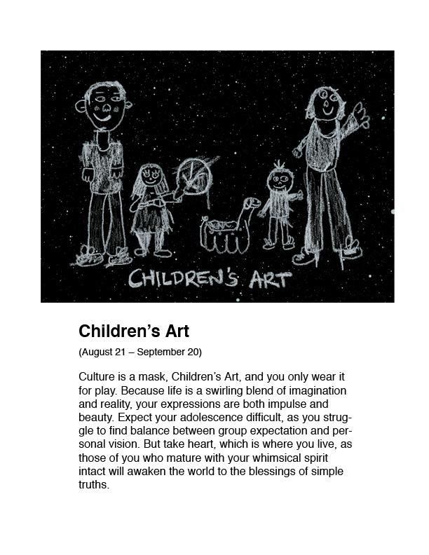 Horoscope Childrens Art Humor AstroExplorer Adam Blue