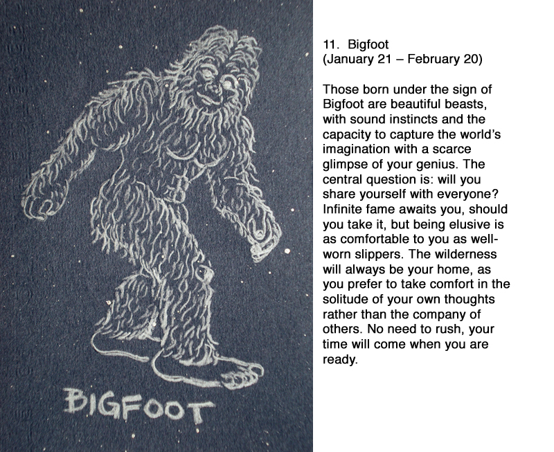 bigfoot horoscope constellation