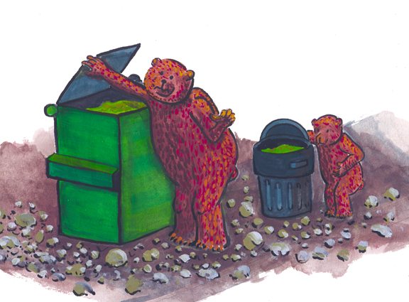 garbage bears drawing web
