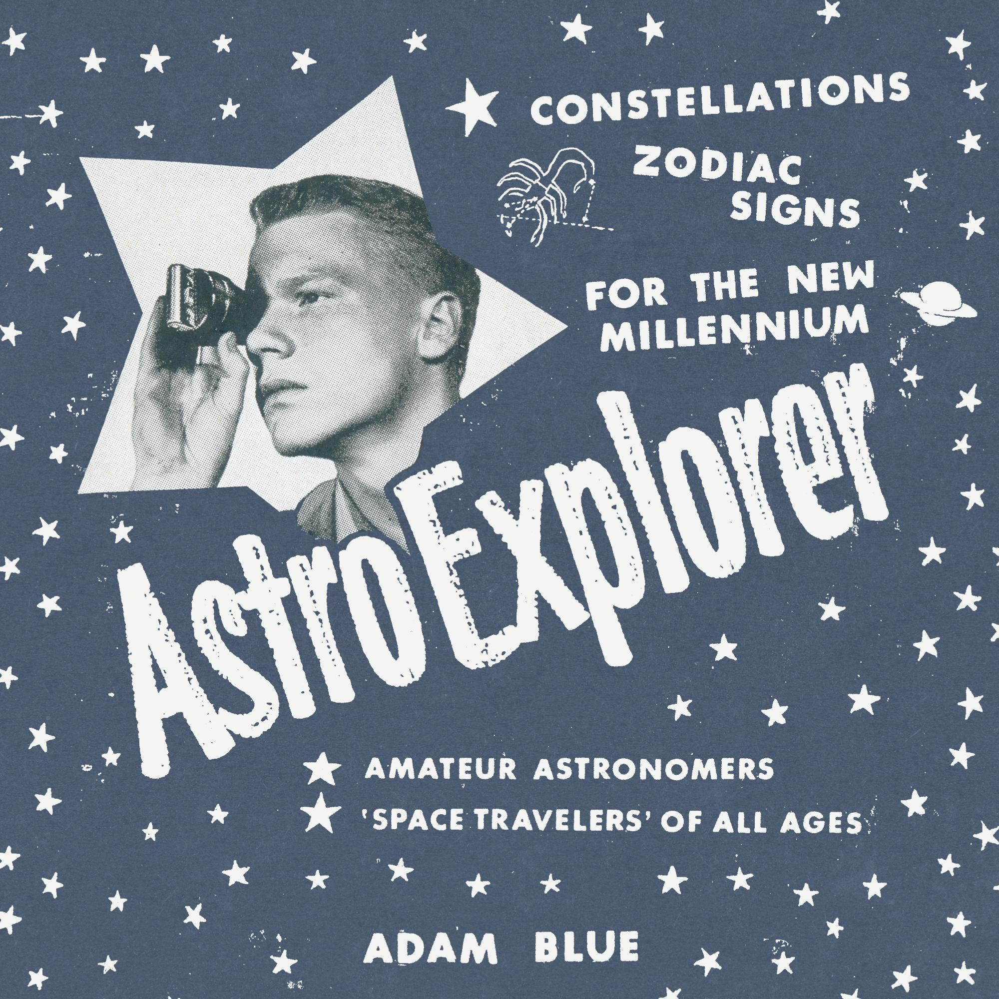 Adam Blue AstroExplorer Book Cover Constellations Horoscopes Humor Drawing