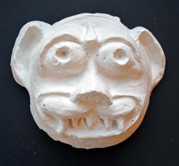 Social Practice Plaster Halloween Sculptures