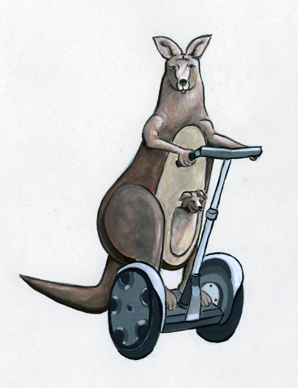 blue_kangaroo on segway