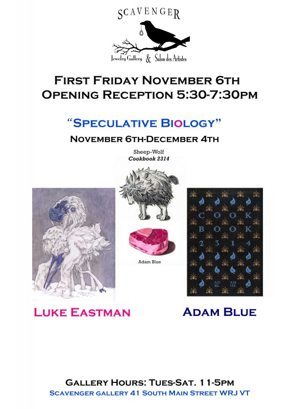 Adam Blue Luke Eastman Scavenger Gallery Speculative Bio