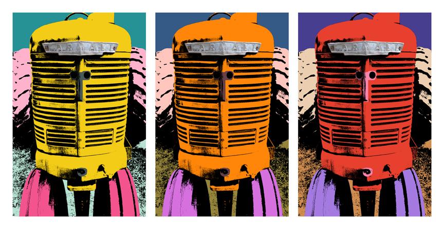 America Tractors Pop Art Book Adam Blue