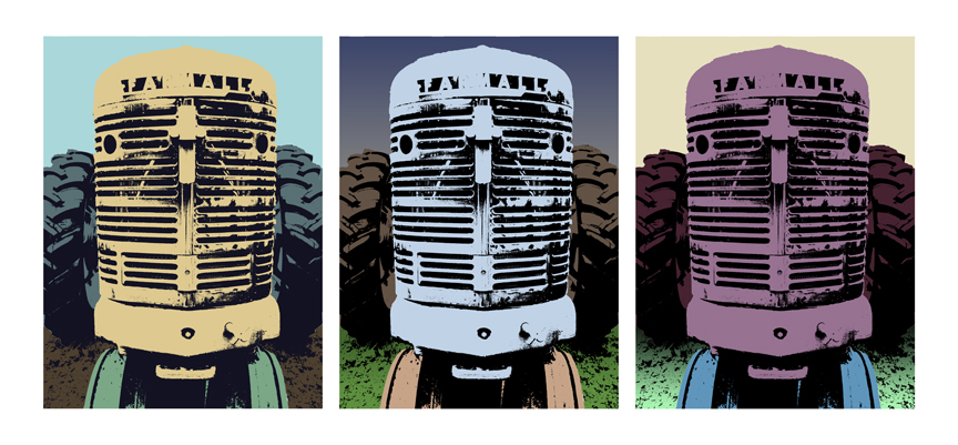 America Tractors Pop Art Book Adam Blue