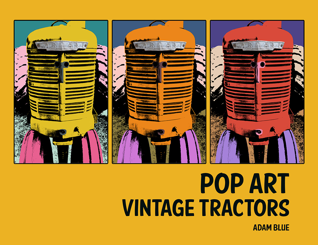 Adam Blue Pop Art Tractors Cover America Farmall Classic